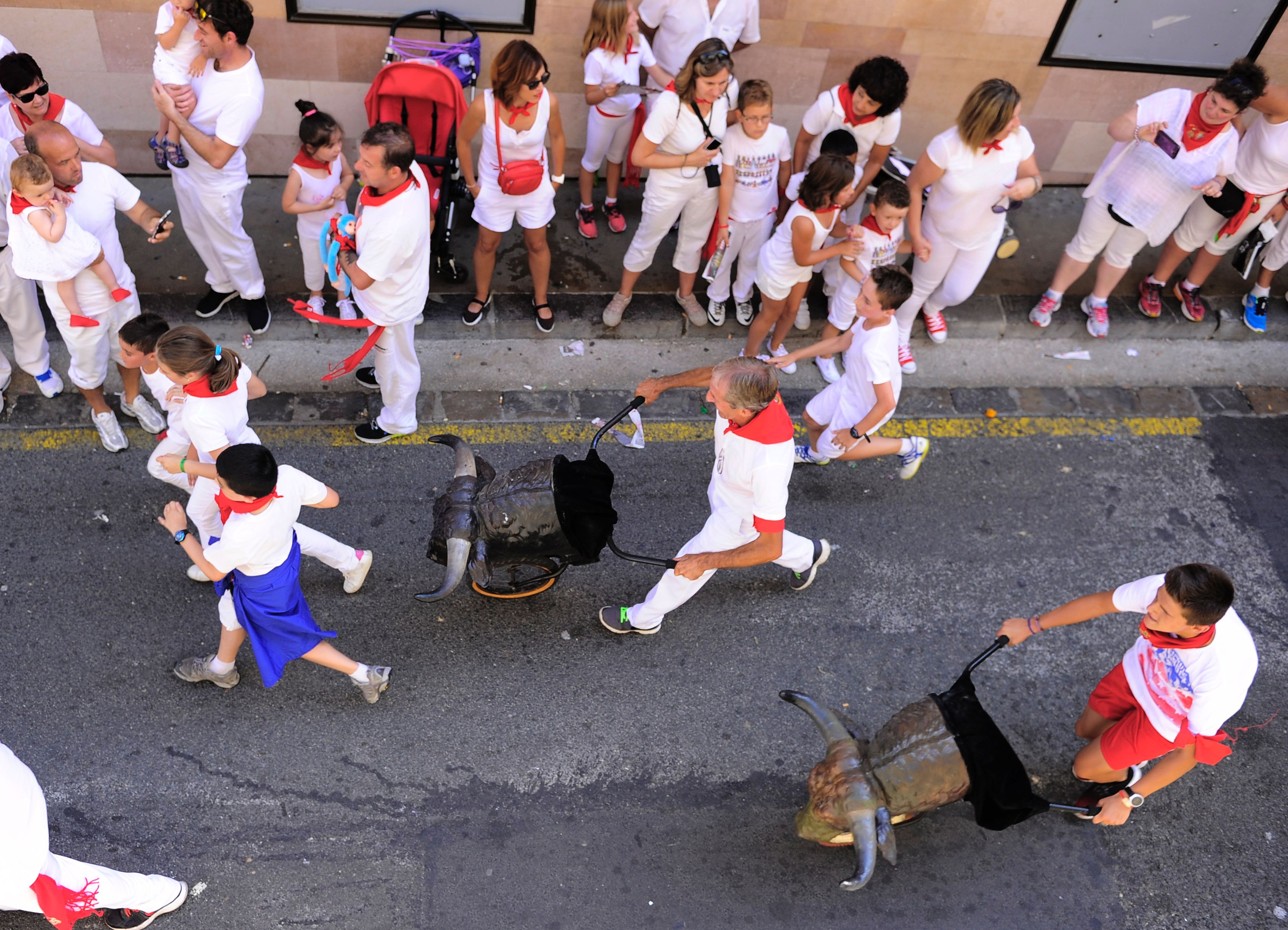 Stierenrennen in Pamplona