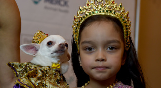 Dierenmodeshow New York  Foto AFP