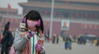 Smog, china, mist, lucht, vervuiling