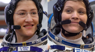Links Koch en rechts McClain  Beeld NASA