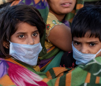 Kinderen in New Delhi (India)  Foto Reuters